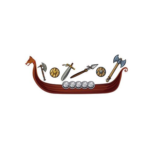 Photocall barco vikingo 3,00mx1,55m