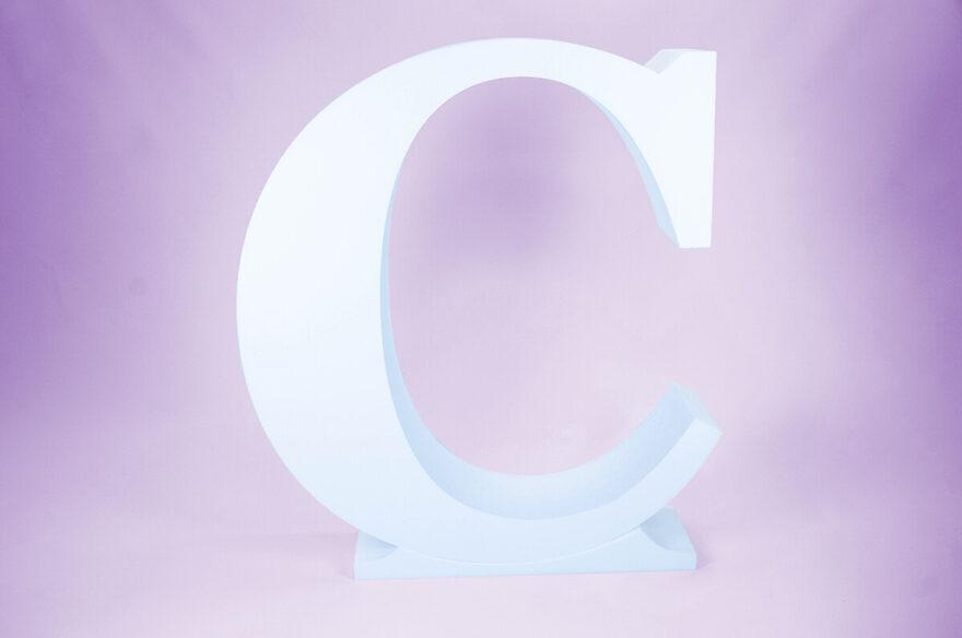 Letras de corcho C