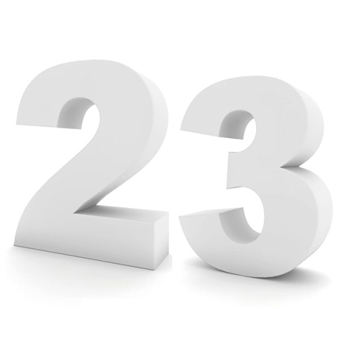 Números en corcho para cumpleaños