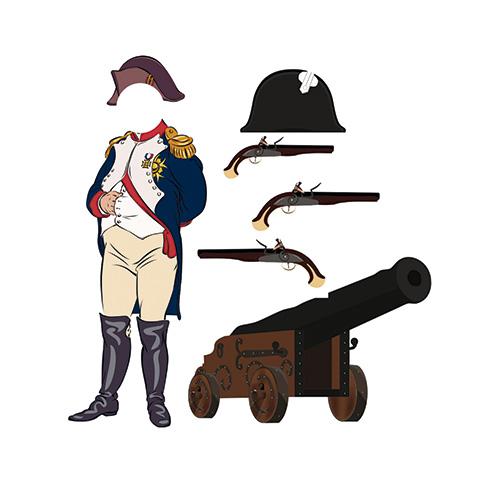 Photocall Napoleón Bonaparte + Accesorios
