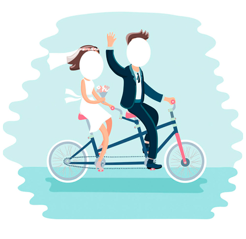 Photocall Novios Bicicleta
