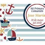 Photocall Flexible Mi Primera Comunión Barcos