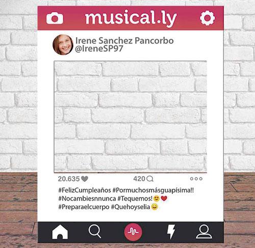Photocall Personalizado Musically