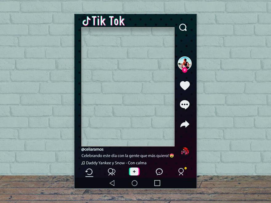 Photocall Personalizado Tik Tok modelo b