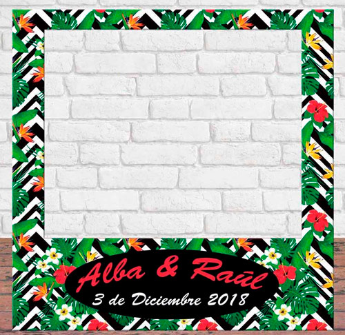 Photocall Personalizado Estampado Tropical