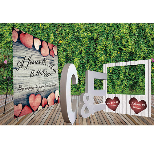 Pack Bodas Photocalls y Letras de Corcho 3