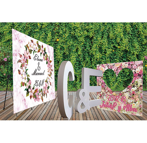 Pack Bodas Photocalls y Letras de Corcho 4