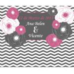 Photocall Flexible Boda Flores Rayadas