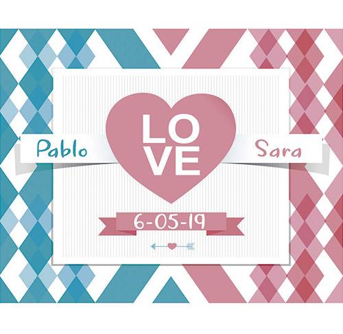 Photocall Flexible Boda Love Corazón
