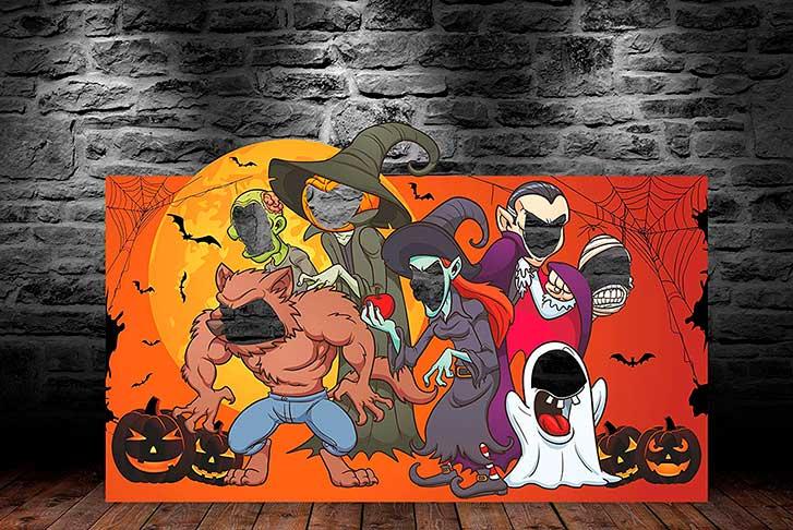 Photocall Halloween Orange Terrible Night