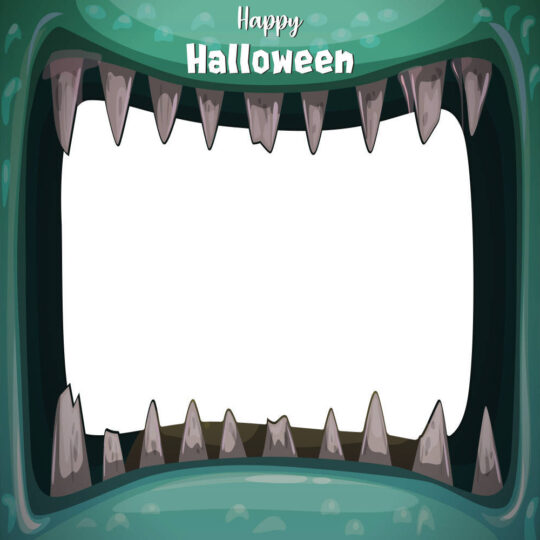 Photocall Halloween Boca Monstruo Verde diseño