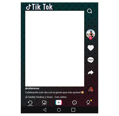 Photocall Personalizado Tik Tok