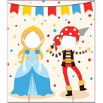 Photocall Pirata y Princesa