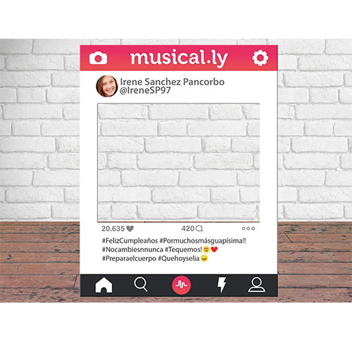 Photocall Personalizado Musically