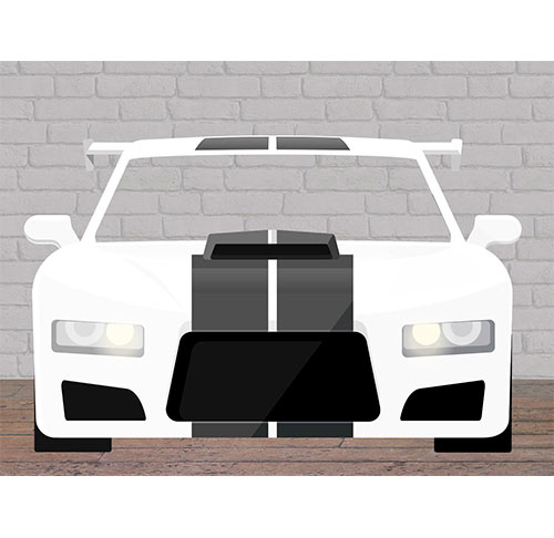 Photocall Coche Blanco