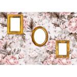 Photocall Marcos de Fotos Fondo Rosas Blancas