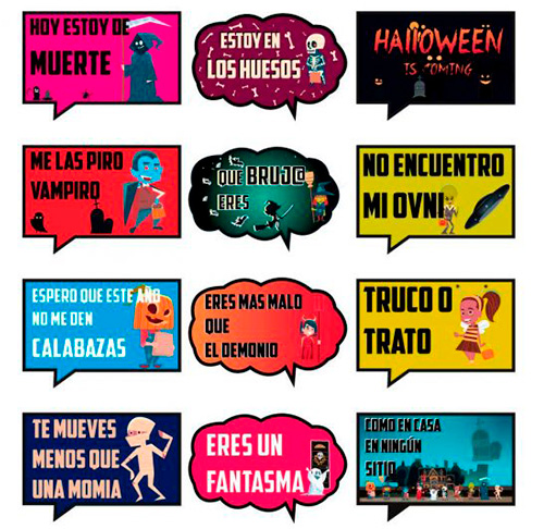 Photocall Frases Divertidas Halloween