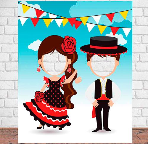Photocall Trajes de Flamencos