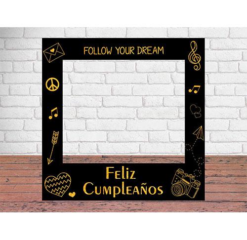 Photocall Feliz Cumpleaños Negro