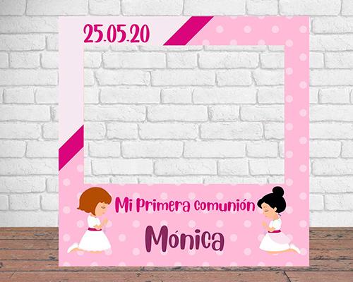 Photocall Personalizado Mi Primera Comunión Niña