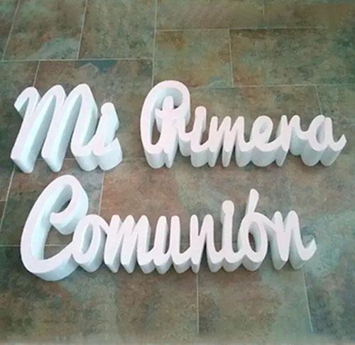 letras de corcho para comunion