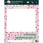 Photocall Personalizado Whatsapp Cumpleaños fondo lunares diseño
