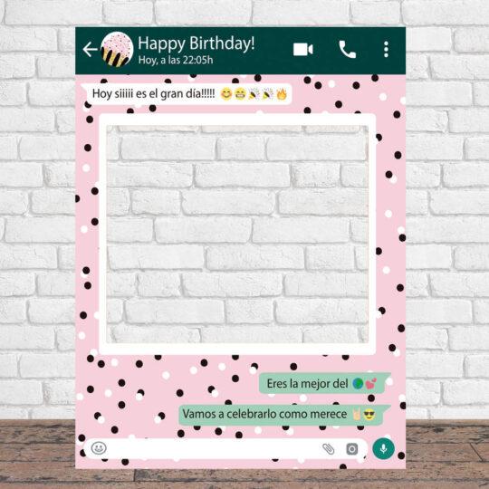 Photocall Personalizado Whatsapp Cumpleaños fondo lunares