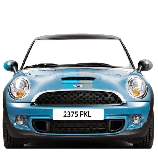 Photocall Coche Mini Azul Personalizado Diseño