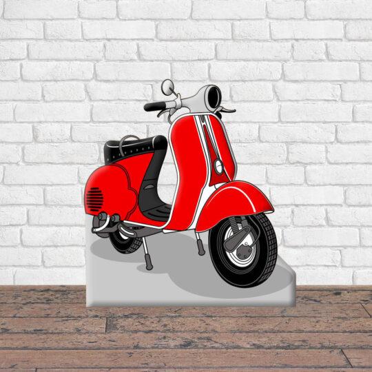 Photocall Moto Vespa Roja