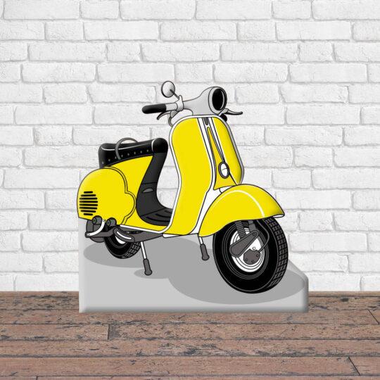 Photocall Moto Vespa Amarilla