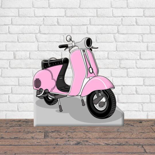 Photocall Moto Vespa Rosa