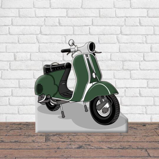 Photocall Moto Vespa Verde