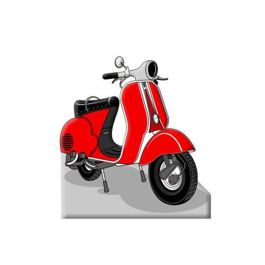 Photocall Moto Vespa Roja diseño