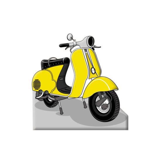 Photocall Moto Vespa Amarilla diseño
