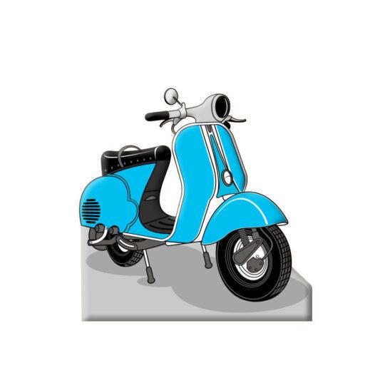 Photocall Moto Vespa Azul diseño