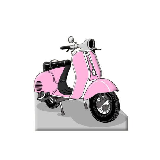 Photocall Moto Vespa Rosa diseño