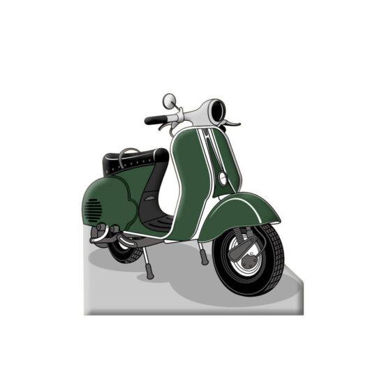 Photocall Moto Vespa Verde diseño