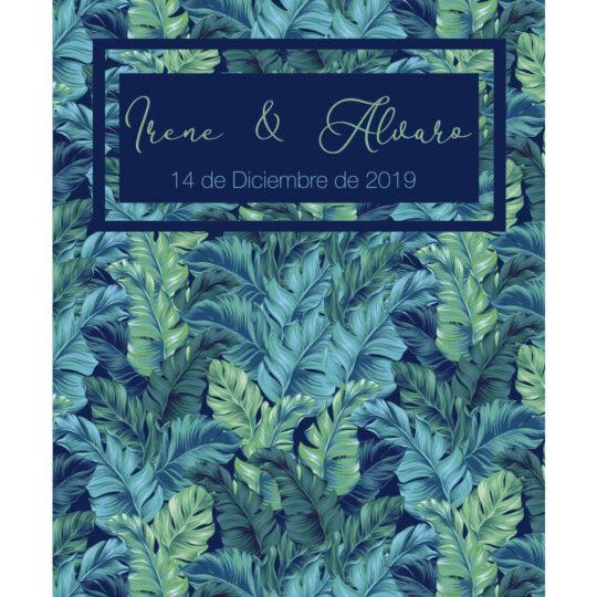 Photocall personalizado boda flexible hojas frontal