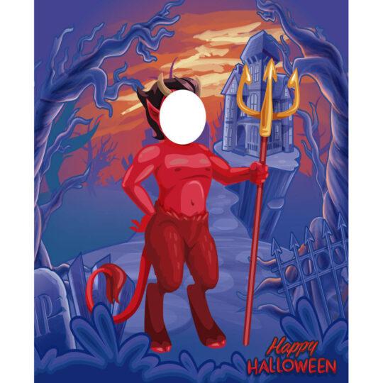 Photocall Centauro Halloween diseño