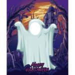 Photocall Fantasma Halloween diseño