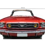 Photocall Ford Mustang Rojo medidas