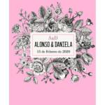 Photocall Boda Floral Rosa diseño