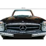 Photocall Mercedes Negro medidas