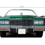 Photocall Coche Cadillac Verde medidas