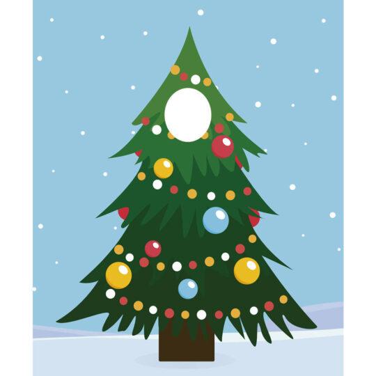 Photocall Árbol de Navidad diseño