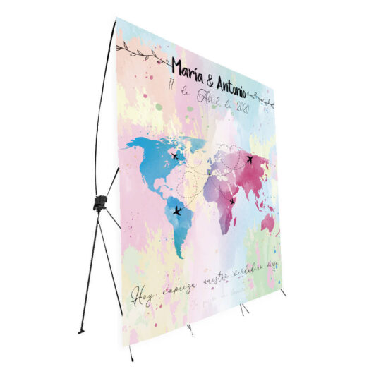 Photocall Boda Mapa Mundo