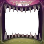 Photocall Halloween Boca Monstruo diseño