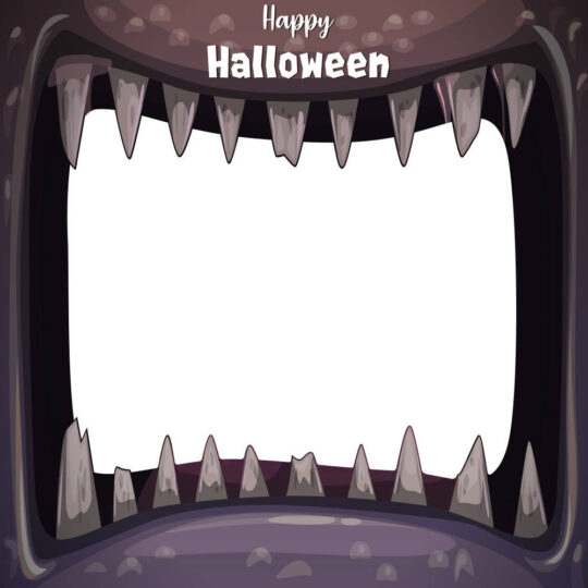 Photocall Halloween Boca Monstruo Morada diseño