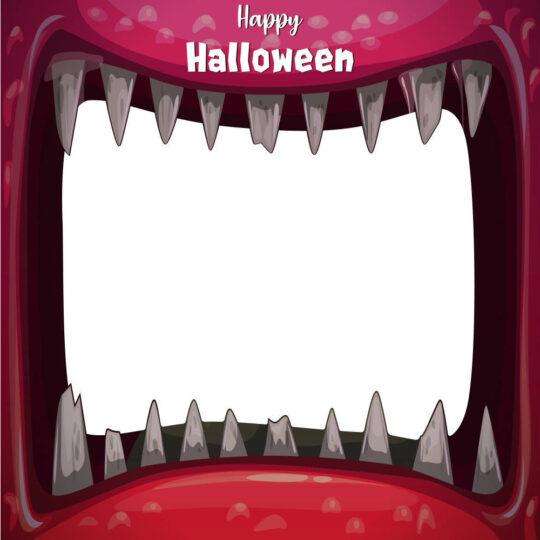 Photocall Halloween Boca Monstruo Roja diseño