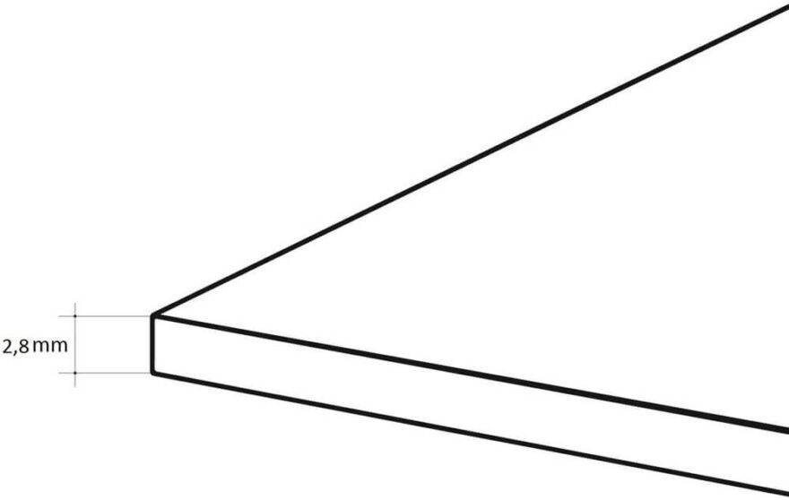 Microcanal 2,8 mm.
